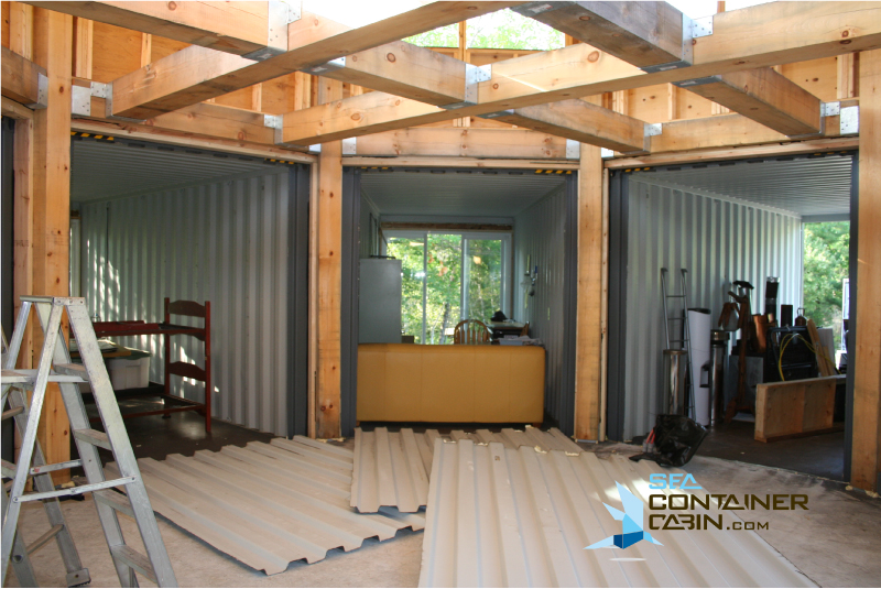DIY-Shipping-Container-Cabin-Kit-Cutting-Metal-Walls