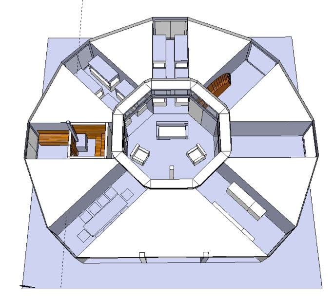 Project OCTOPOD Shipping Container Cabin Sea