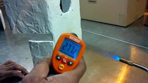 Ceramic coating high temp test