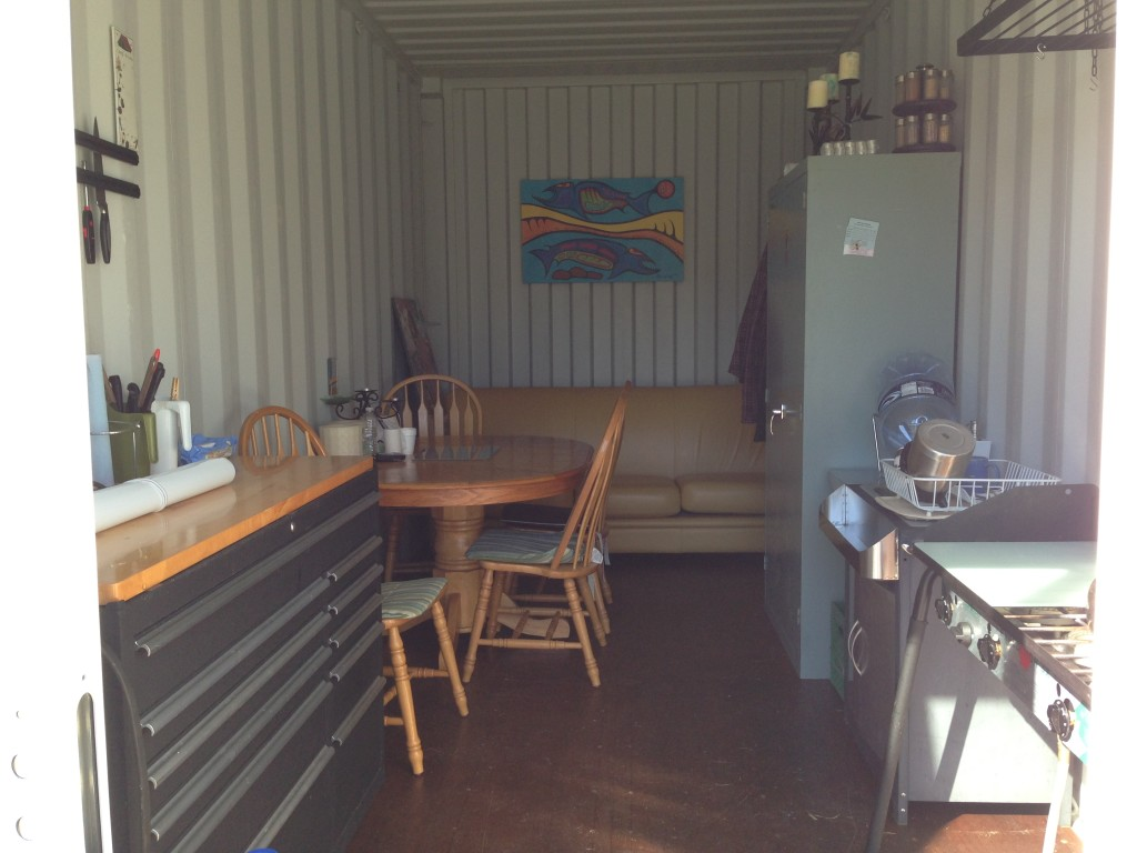 Construction office set up in shipping container sea container cabin