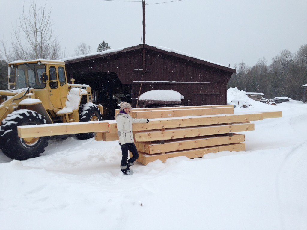 white pine timbers for sea container cabin