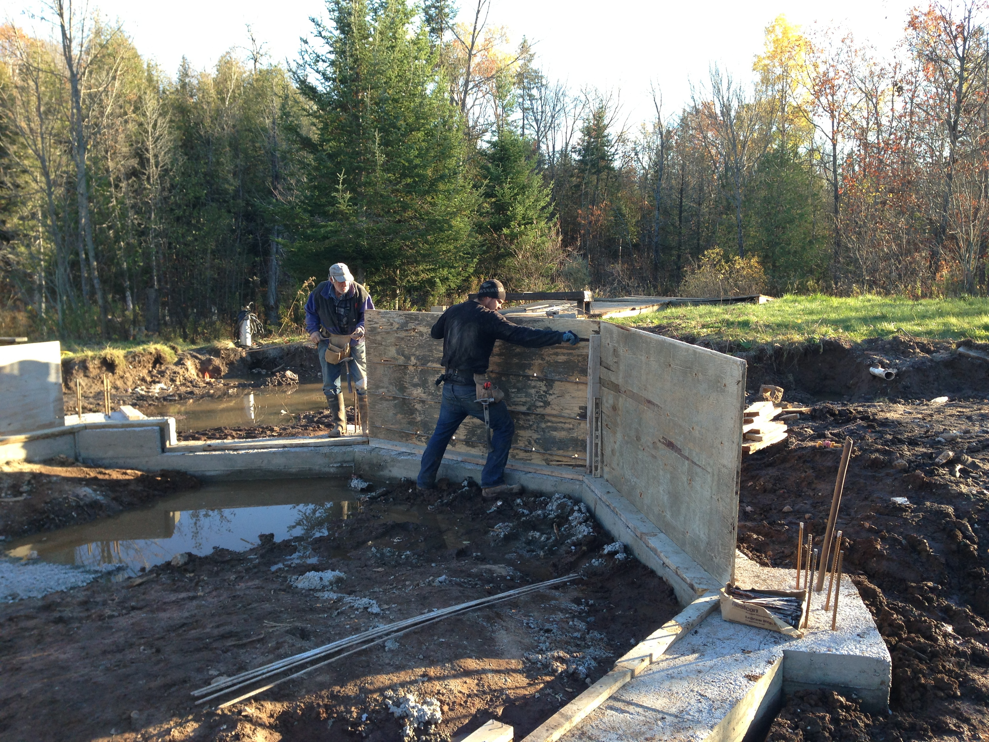 sea container cabin foundations 1