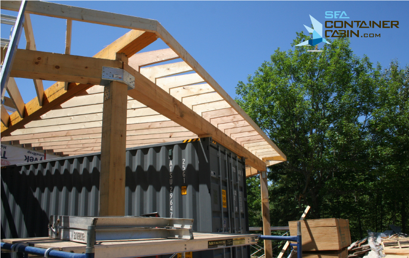 Shipping-Container-Cabin-Framing-Side-View-Workbench