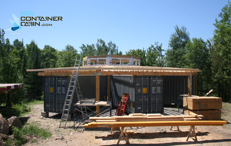 Shipping-Container-Cabin-Framing-Workbench