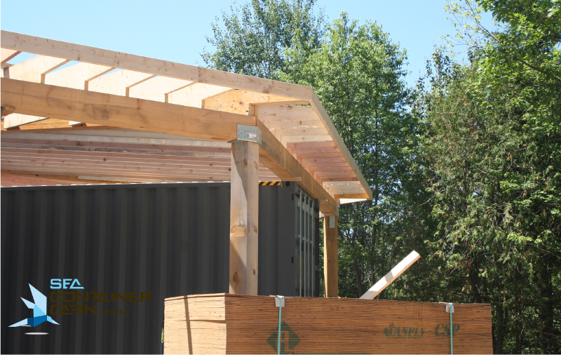 Framing Of The Shipping Container Cabin Project Summer