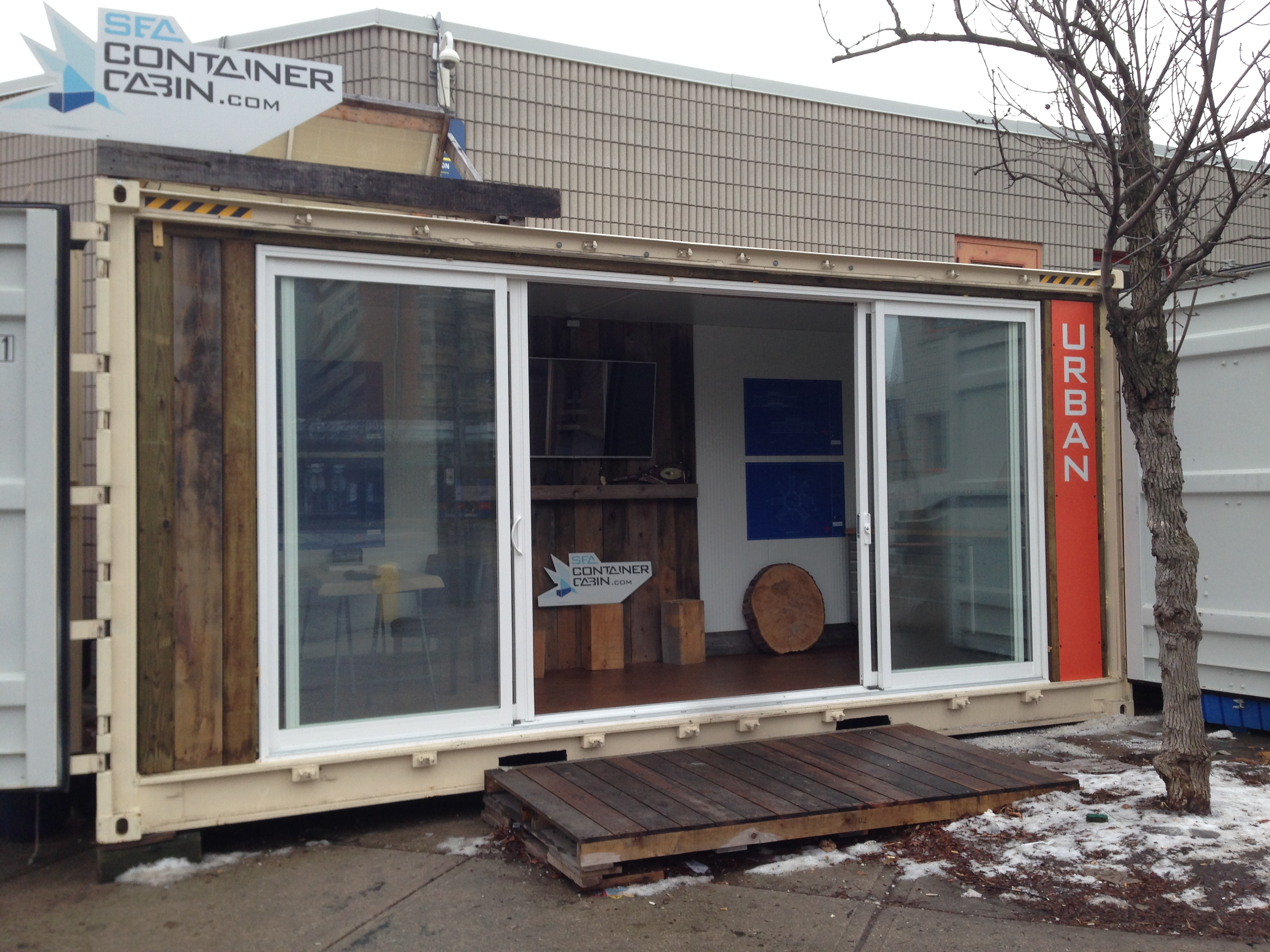 Sea Container Cabin Showroom Scadding Court Community Centre Toronto Market 707