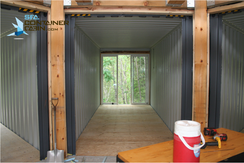 Diy Shipping Container Cabin Kit Centre Looking Out